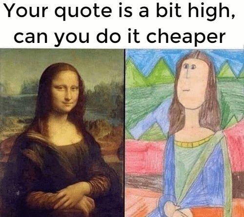 Hemsida - man får det man betalar för