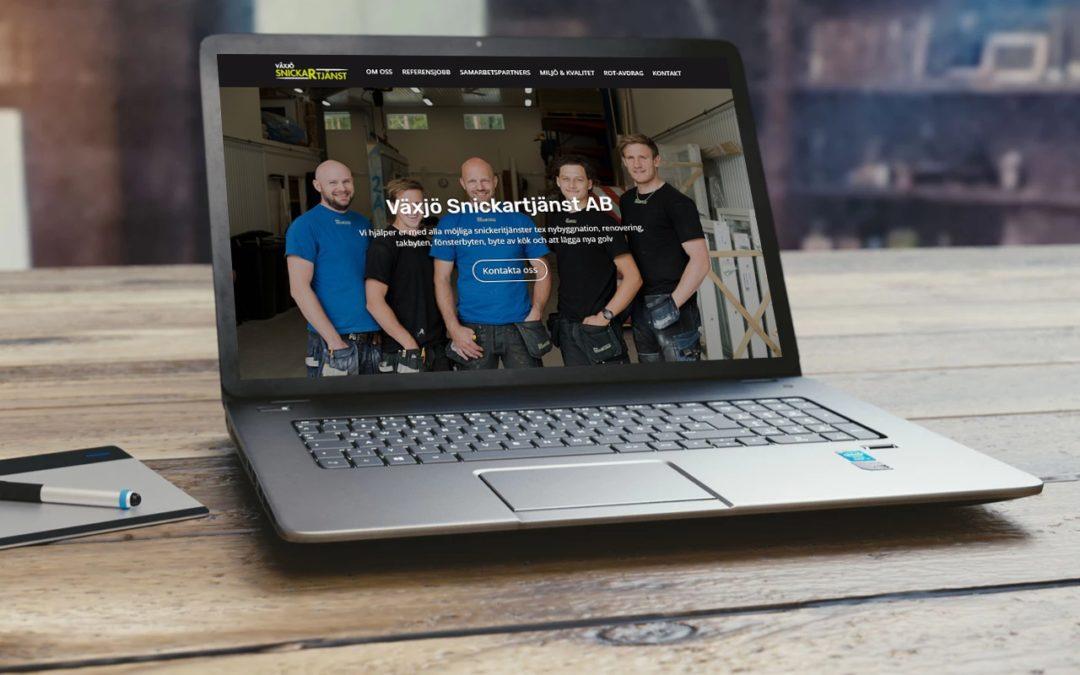 Ny hemsida lanserad för Växjö Snickartjänst AB