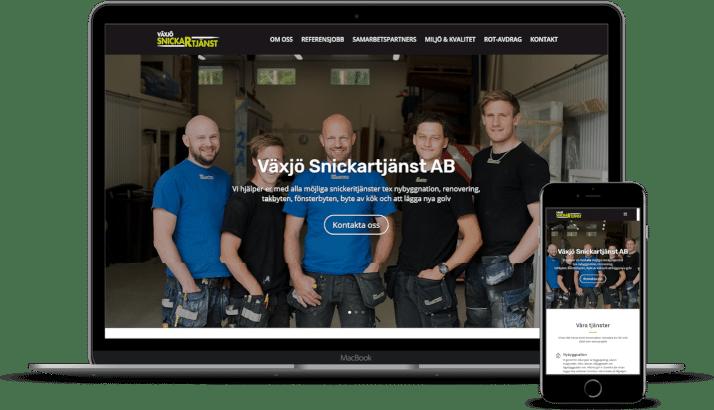 Ny hemsida till Växjö Snickartjänst AB