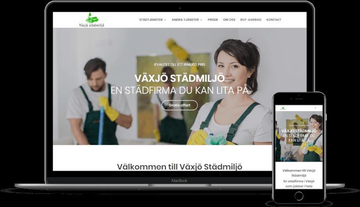Ny hemsida och SEO till Växjö Städmiljö AB